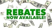 Rebates now available
