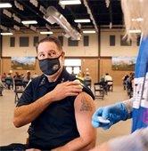 Chief of Police Bob Brammer getting COVID-19 vaccine