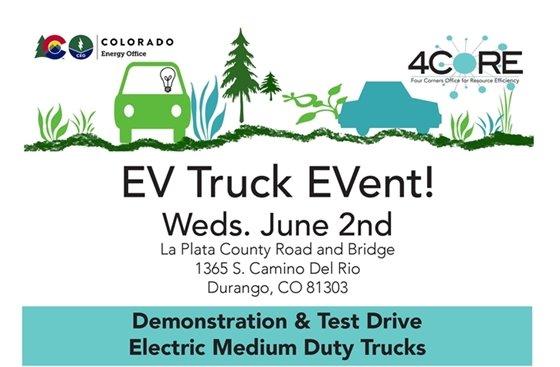 EV Truck Event. Wednesday June 2 at 1365 S. Camino Del Rio.