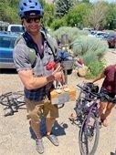 bicycles parked Ska Brewing