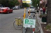 photo of bike corral on Main Avenue
