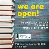 Durango Public Library is open
