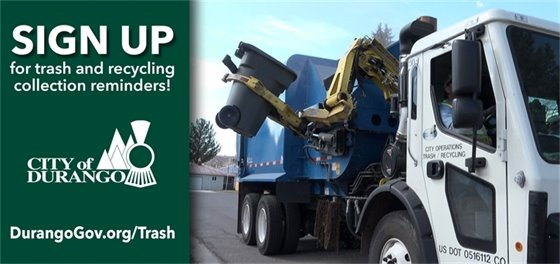 Trash and recycling collection reminders
