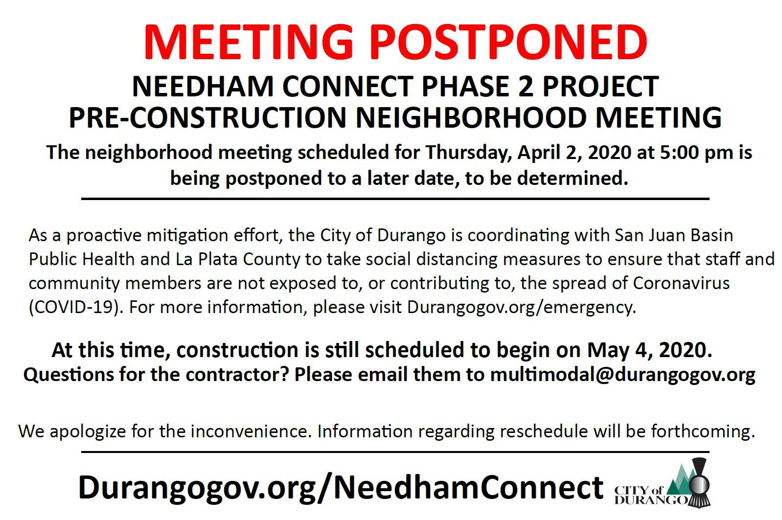 Needham Connect public meeting canceled