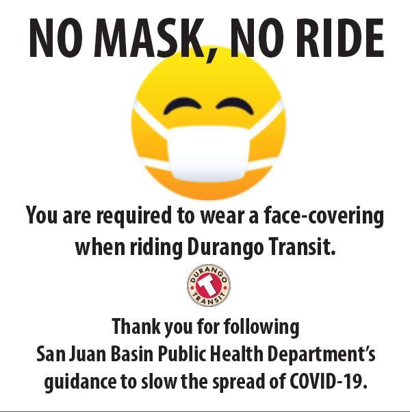 Image that states: No mask, No ride