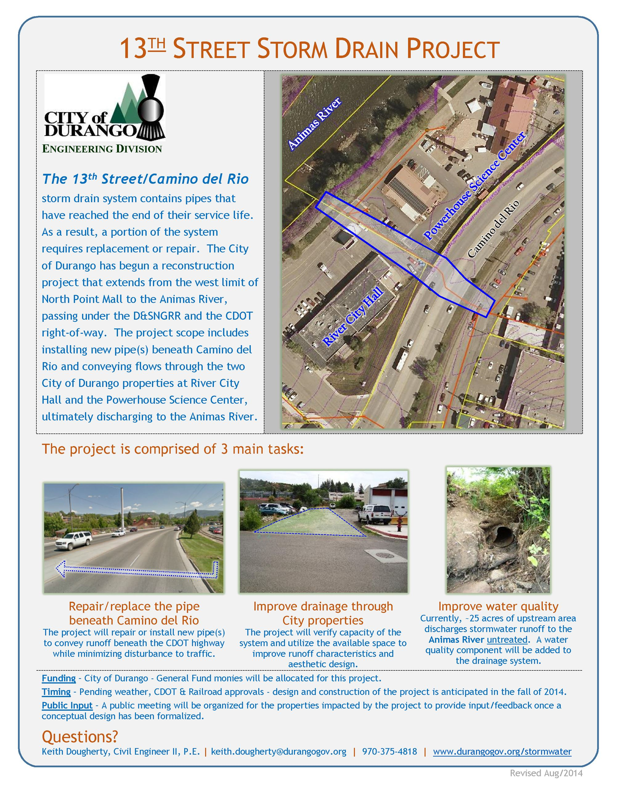 13th Street Storm Project Flyer