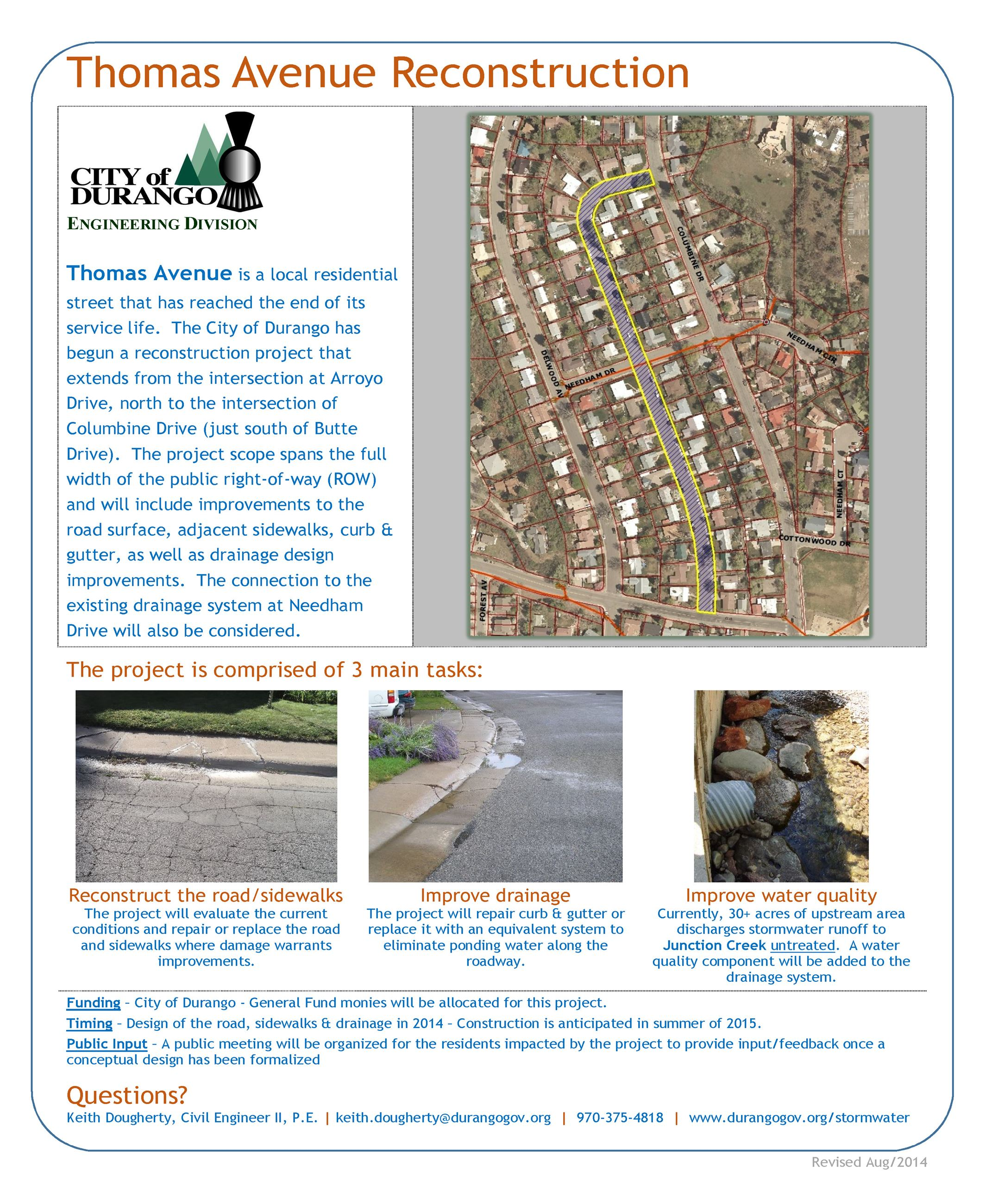 Thomas Avenue Project Flyer click to enlarge