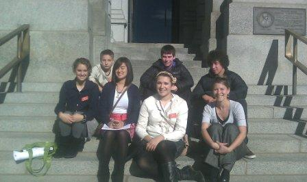 Some MYAC members on the capitol steps in Denver