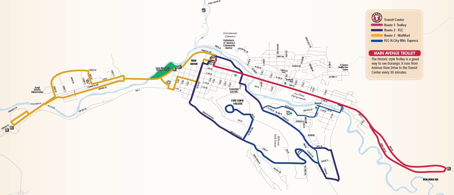 Durango CO Official Website Routes Maps