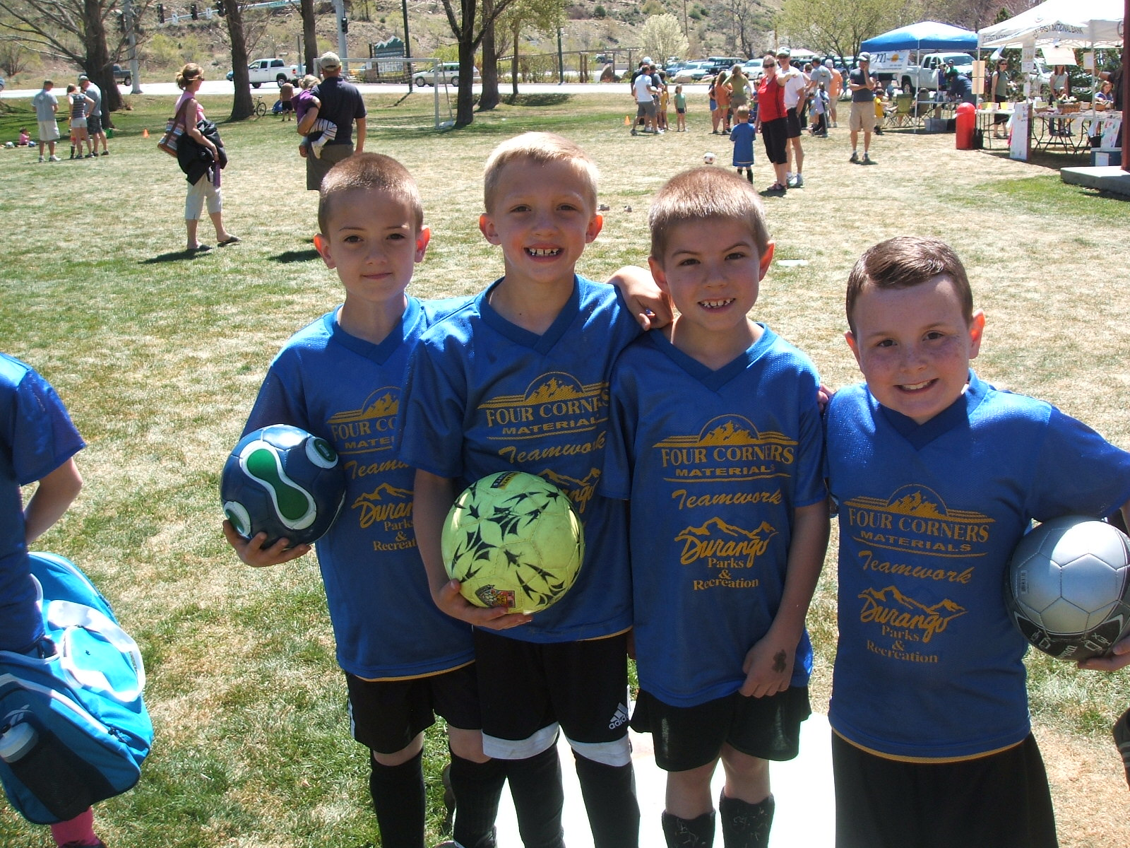 Youth Soccer Team mates