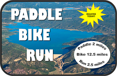 paddle bike run event logo