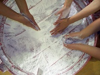 Kids Using Chalk
