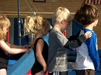 Young Children at Gymnastics Class