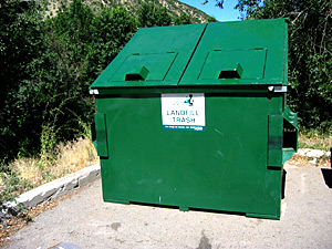 Commercial trash container