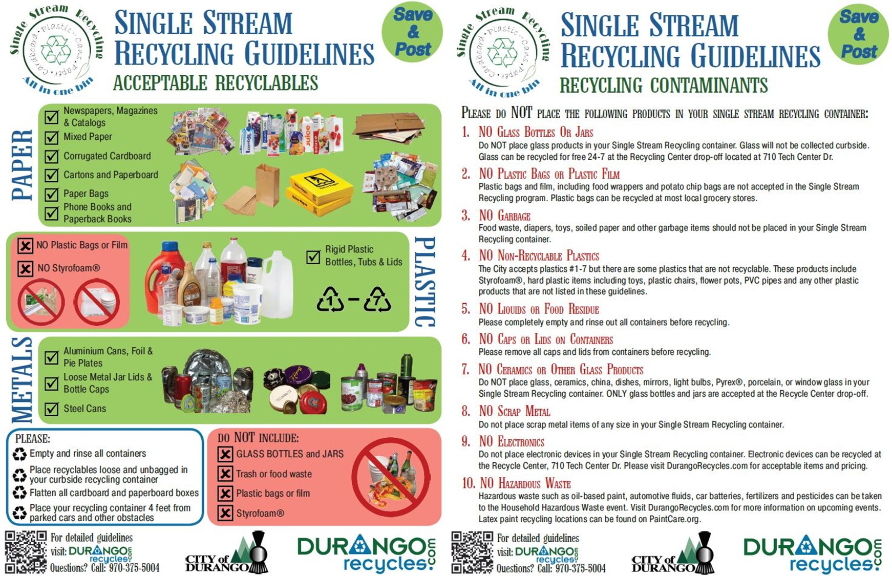 Single Stream Recycling Guidelines