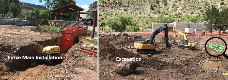 Force main installation and excavation photo