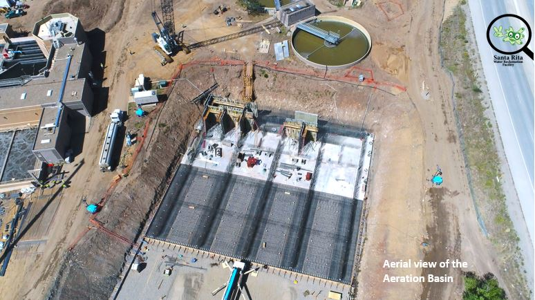 aerial view aeration basins